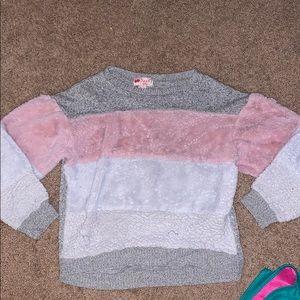 Girls poof sweater